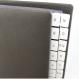 Pultordner mit Register A-Z aus genarbtem Vollrindleder in Schwarz