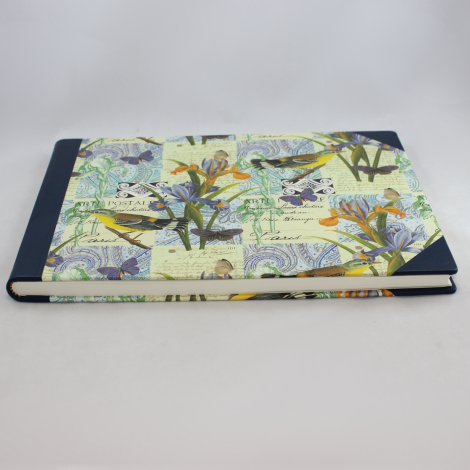 Foto-Gästebuch Lorenzo mit blauem Vollrindleder – Fotoalbum und Gästebuch in einem