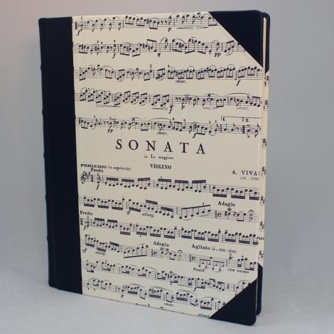 Gästebuch Sonata mit blauem Leder