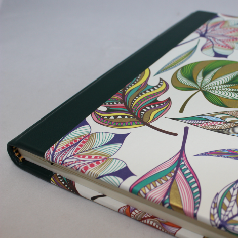 Gästebuch quer Dipinto mit grünem Leder