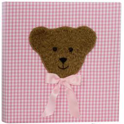 Kinderalbum Karo in rosa mit Teddy