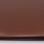 Pultordner mit Register 1-7 aus glattem Vollrindleder in Braun