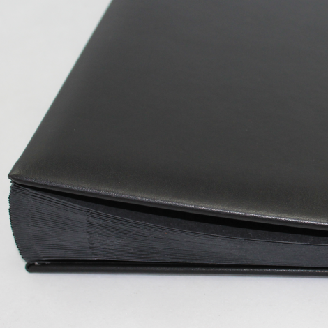 Pultordner mit Register 1-31 aus glattem Vollrindleder in Schwarz