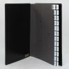 Pultordner mit Register A-Z aus glattem Vollrindleder in Schwarz