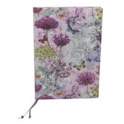 Kochrezept Sammelbuch Frühling – im Stoffeinband mit bunten Blumen