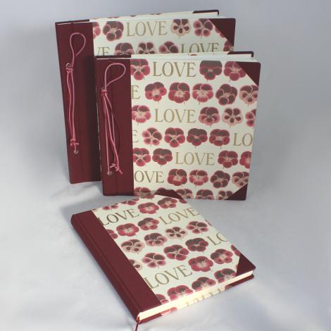 Fotoalbum Love mit Kordelbindung L
