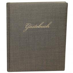 Gästebuch Prag in Olivgrün mit Goldschnittblock