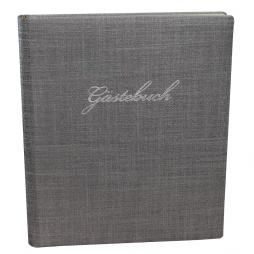 Gästebuch Prag in Silbergrau mit Silberschnittblock
