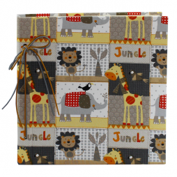 Kinderalbum Jungle mit Kordelbindung M in Beige
