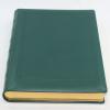 Gästebuch dick aus grünem Leder mit Goldschnittblock