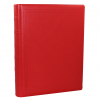 Gästebuch dick aus glattem rotem Leder mit Goldschnittblock