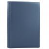 Gästebuch glattes blaues Leder mit Büttenblock