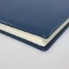 Gästebuch aus glattem blauem Leder mit Büttenblock
