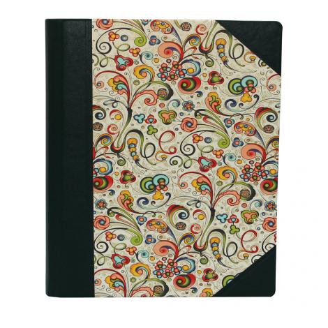 Notizbuch Tempesta Halbleder grün