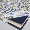Gästebuch quer Flamingo mit blauem Leder
