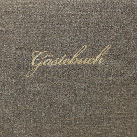 Gästebuch Prag quer in Olivgrün