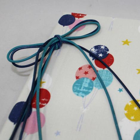 Fotoalbum Luftballons in beige-blau mit Kordelbindung