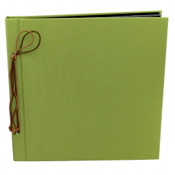 Fotoalbum mit Kordelbindung Multicolori in apfelgrün