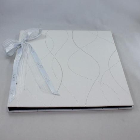 Fotoalbum Genova mit Kordelbindung M in Weiß