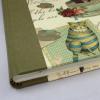 Gästebuch quer Alice mit grünem Buchbinderleinen