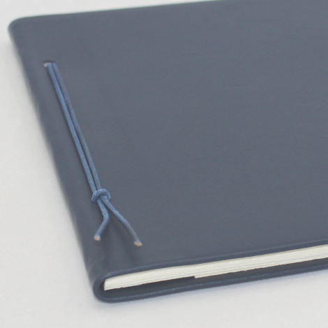 Business-Mappe DIN A4 aus blauem Vollrindleder