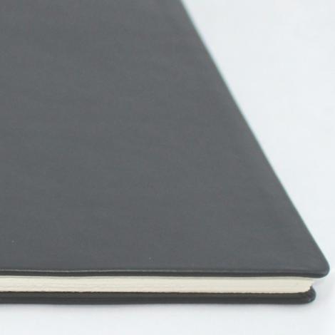 Business-Mappe DIN A4 aus schwarzem Vollrindleder