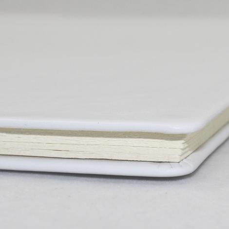 Business-Mappe DIN A4 aus weißem Vollrindleder