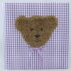 Kinderalbum Karo in Flieder mit Teddy
