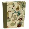 Notizbuch Alice mit integriertem Stifthalter und grünem Buchbinderleinen