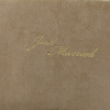 """Hochzeitsgästebuch """"Just Married"""" Wildleder in lattemacchiato"""