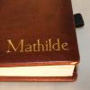 Dauerkalender Kupfer Metallic mit Namensprägung