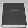Gästebuch dick schwarzes Leder mit Wunschtext Goldprägung