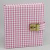 Tagebuch mit Schloss Karo in rosa