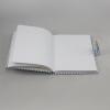 Tagebuch mit Schloss Karo in blau