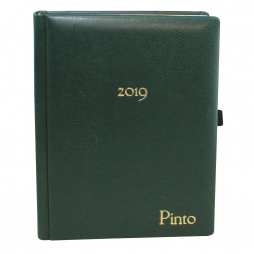 Taschenkalender DIN A5 mit goldener Namensprägung in vielen Farben