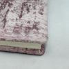 Gästebuch Anik quer in Rosé – rosé-silbergrau meliertes Gästebuch im Stoffeinband mit 144 blanko Seiten
