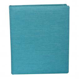 Gästebuch Candy hochkant in Blau – hellblaues Gästebuch im Stoffeinband mit 144 blanko Seiten zum selbst gestalten