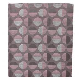 Gästebuch Swing hochkant in Altrosé – Gästebuch im roséfarbenen Stoffeinband mit schönem Webmuster aus Kreisformen