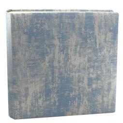Fotoalbum Anik in Blau – Stoffeinband aus Baumwolle mit Glanzeffekt aus blau und silbergrau melierter Webung