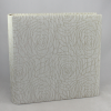 Fotoalbum Hekla in Creme – gewebter Stoffeinband aus Baumwolle mit modernem Rosenmuster