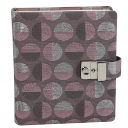 Tagebuch Swing in Altrosé mit Schloss – abschließbares roséfarbenes Tagebuch im Stoffeinband mit 224 blanko Seiten