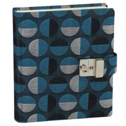 Tagebuch mit Schloss Swing in Blau