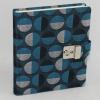 Tagebuch Swing in Blau mit Schloss – abschließbares blaues Tagebuch im Stoffeinband mit 224 blanko Seiten
