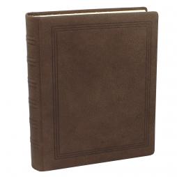 Gästebuch dick Wasserbüffel Leder mit handgerissenem Büttenblock