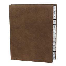 Pultordner aus Wasserbüffel Leder mit Register 1-12 (Jan.-Dez.) – Lederpultordner Jahresregister