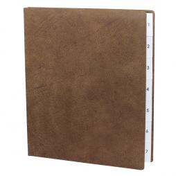 Pultordner aus Wasserbüffel Leder mit Register 1-7 – Lederpultordner Wochenregister