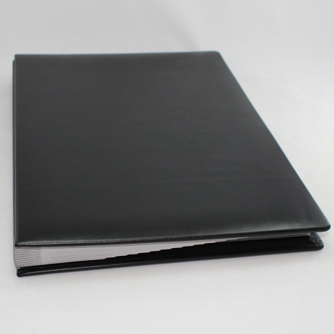 Unterschriftenmappe aus glattem Vollrindleder in Schwarz – schwarze Leder Signaturmappe