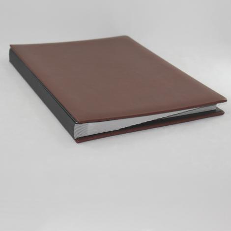Unterschriftenmappe aus glattem Vollrindleder in Braun – braune Leder Signaturmappe