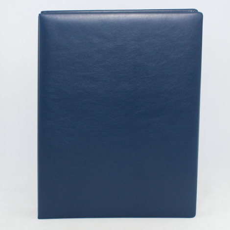 Unterschriftenmappe aus glattem Vollrindleder in Blau – blaue Leder Signaturmappe