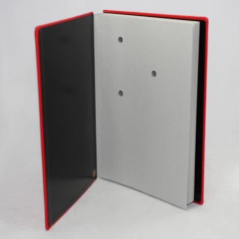 Unterschriftenmappe aus glattem Vollrindleder in Rot – rote Leder Signaturmappe